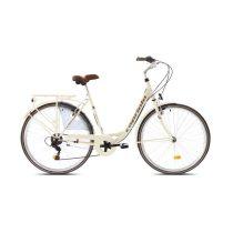 """Capriolo Diana 6 sebességes női városi kerékpár 20"""" Krém"""