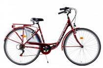 Capriolo Diana 6 sebességes női városi kerékpár bordó