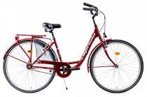 Capriolo Diana kontrás női városi kerékpár bordó
