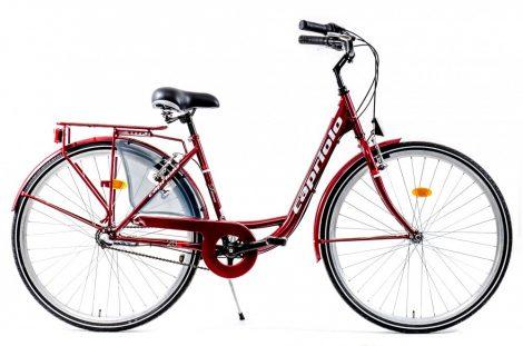 """Capriolo Diana 3 sebességes női városi kerékpár 17"""" Bordó"""