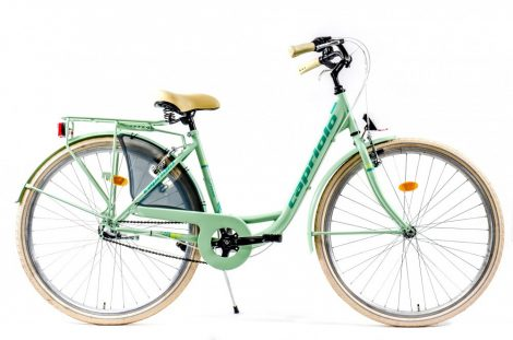 """Capriolo Diana 3 sebességes női városi kerékpár 17"""" Mentazöld"""