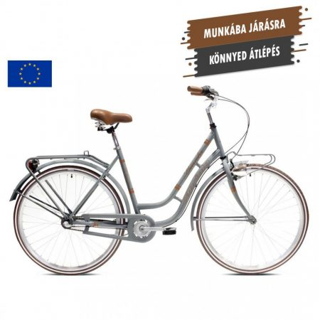Capriolo Bianka női városi kerékpár Szürke