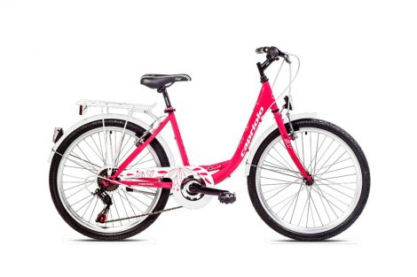 """Capriolo Ella 24"""" gyerek kerékpár Rózsaszín"""
