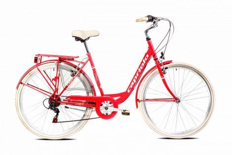 """Capriolo Diana 6 sebességes női városi kerékpár 20"""" Piros"""