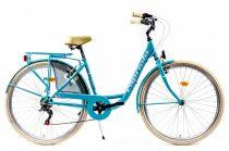 """Capriolo Diana 6 sebességes női városi kerékpár 17"""" Világoskék"""