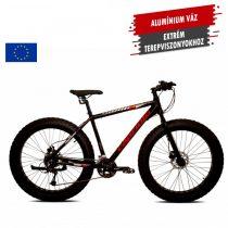 "Capriolo Boom 26 fatbike kerékpár 17"" Fekete"