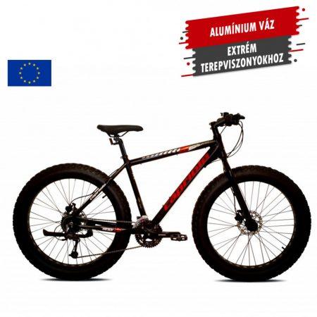 "Capriolo Boom 26 fatbike kerékpár 19"" Fekete"