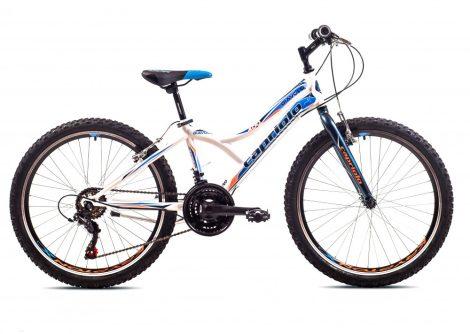 """Capriolo Diavolo 400 24"""" gyerek kerékpár Fehér-Kék"""