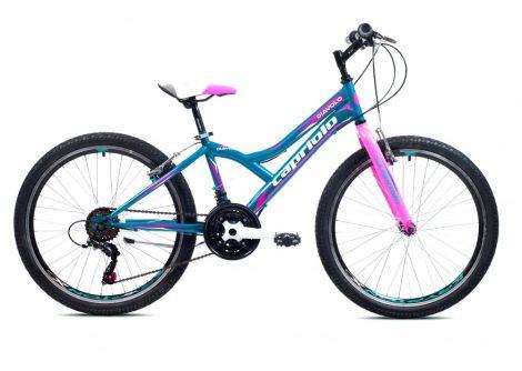 """Capriolo Diavolo 400 24"""" gyerek kerékpár Kék-Rózsaszín"""