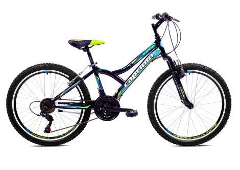 """Capriolo Diavolo 400 FS 24"""" gyerek kerékpár Fekete-Zöld-Kék"""