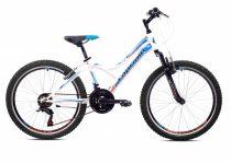 """Capriolo Diavolo 400 FS 24"""" gyerek kerékpár Fehér-Kék"""
