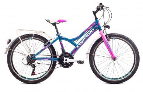 """Capriolo Diavolo 400 24"""" City gyerek kerékpár Kék-Rózsaszín"""