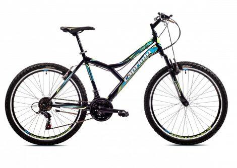 "Capriolo Diavolo 600 FS 26"" férfi MTB kerékpár 17"" Fekete-Zöld"
