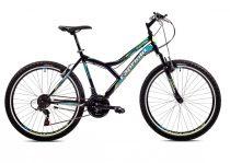 """Capriolo Diavolo 600 FS 26"""" férfi MTB kerékpár 19"""" Fekete-Zöld-Kék"""