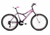 """Capriolo Diavolo 600 FS 26"""" női MTB kerékpár 17"""" Grafit-Rózsaszín"""
