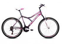 """Capriolo Diavolo 600 FS 26"""" női MTB kerékpár 19"""" Grafit-Rózsaszín"""