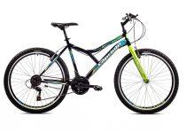 """Capriolo Diavolo 600 26"""" férfi MTB kerékpár 17"""" Fekete-Zöld-Kék"""