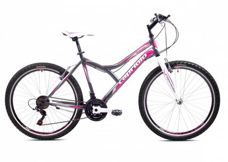 """Capriolo Diavolo 600 26"""" női MTB kerékpár 17"""" Grafit-Rózsaszín"""