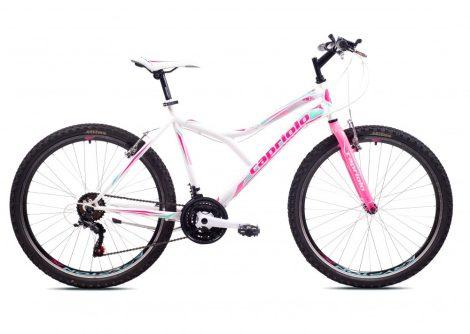 """Capriolo Diavolo 600 26"""" női MTB kerékpár 17"""" Fehér-Rózsaszín"""