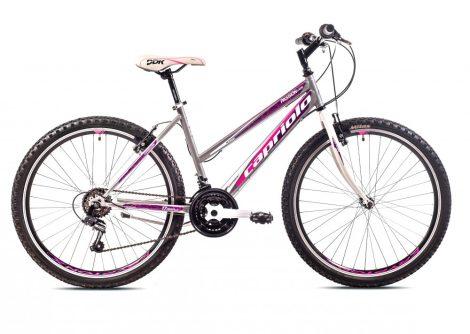 """Capriolo Passion Lady 26"""" női MTB kerékpár 15"""" Grafit-Rózsaszín"""
