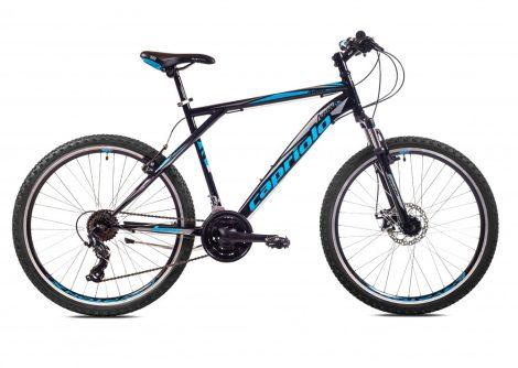 """Capriolo Adrenalin 26"""" férfi MTB kerékpár 18"""" Fekete-Szürke-Kék"""