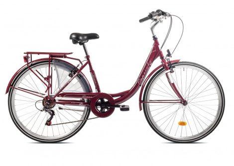 """Capriolo Diana 6 sebességes női városi kerékpár 18"""" Bordó 2020"""