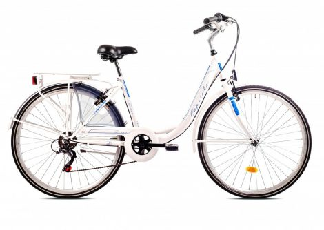 """Capriolo Diana 6 sebességes női városi kerékpár 18"""" Fehér 2020"""