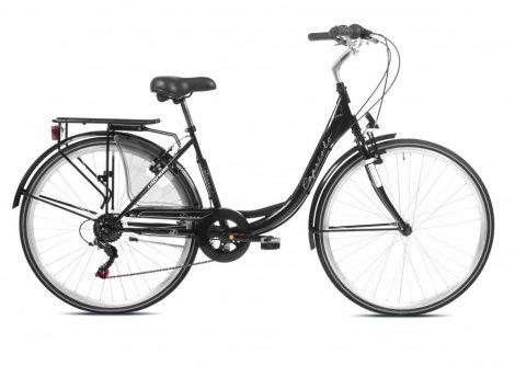 """Capriolo Diana 6 sebességes női városi kerékpár 18"""" Fekete 2020"""