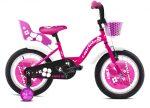 """Capriolo Viola 16"""" gyerek kerékpár Rózsaszín oldalkerék nélkül !"""