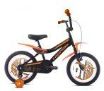"""Capriolo Kid 16"""" gyerek kerékpár Fekete-Narancs"""