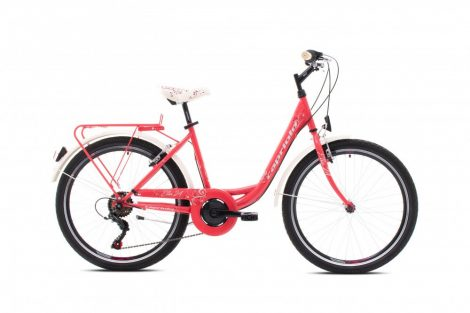 """Capriolo Ella 24"""" gyerek kerékpár Korall"""