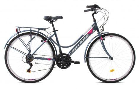 """Capriolo Sunrise Lady női trekking kerékpár 19"""" Grafit-Rózsaszín"""