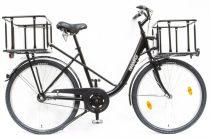 Schwinn Csepel Pick Up 26 kontrás városi kerékpár Fekete