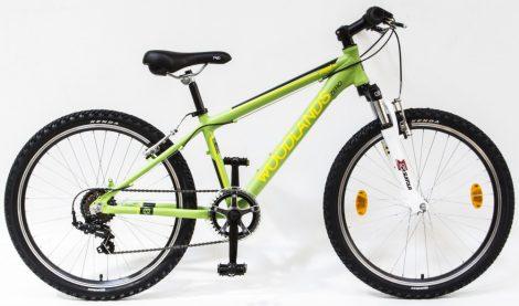 Woodlands Zero 6 sebességes alu 24 gyermek kerékpár Zöld
