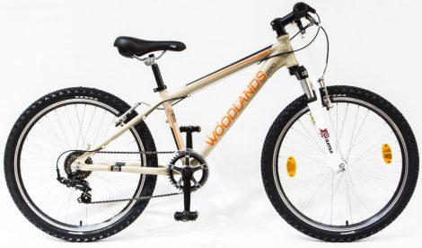 Woodlands Zero 6 sebességes alu 24 gyermek kerékpár Homok