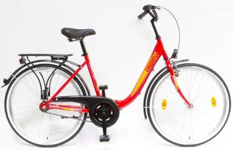Schwinn Csepel Budapest B 26 kontrás városi kerékpár Piros