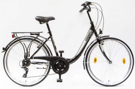 Schwinn Csepel Budapest B 26 7 seb. városi kerékpár Fekete