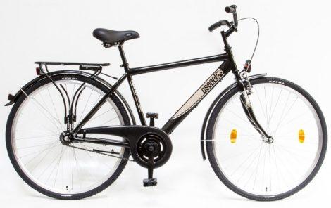 """Schwinn Csepel Budapest férfi 19"""" kontrás városi kerékpár Fekete"""