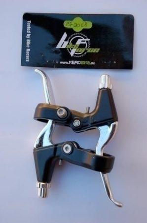 BikeForce fékkar pár 2 ujjas ezüst/fekete