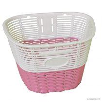 Koliken pálcás műanyag kosár fehér-rózsaszín