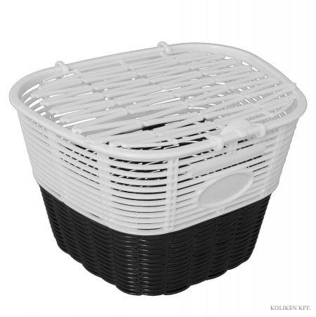 Koliken pálcás műanyag kosár fehér-fekete