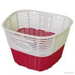 Koliken pálcás műanyag kosár fehér-piros