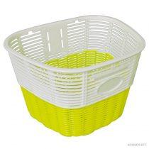 Koliken pálcás műanyag kosár fehér-sárga