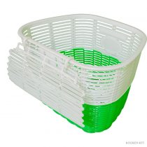 Koliken pálcás műanyag kosár fehér-zöld