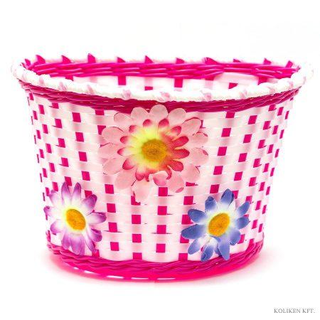 Gyerek fehér-pink virágos kosár