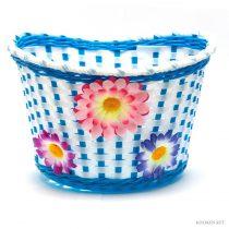 Gyerek kék virágos kosár