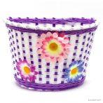 Gyerek lila virágos kosár