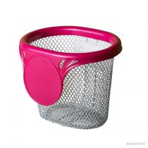 Gyerek fém pink kosár