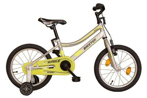 Biketek Smile fiú 16 gyermek kerékpár ezüst