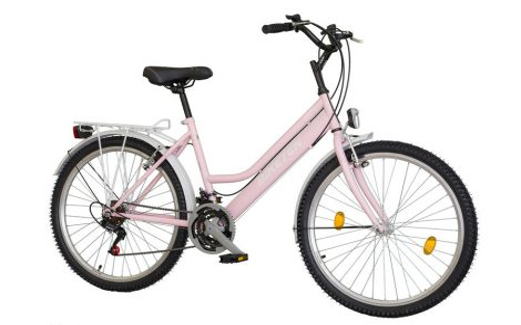 Biketek Oryx női City kerékpár ciklámen